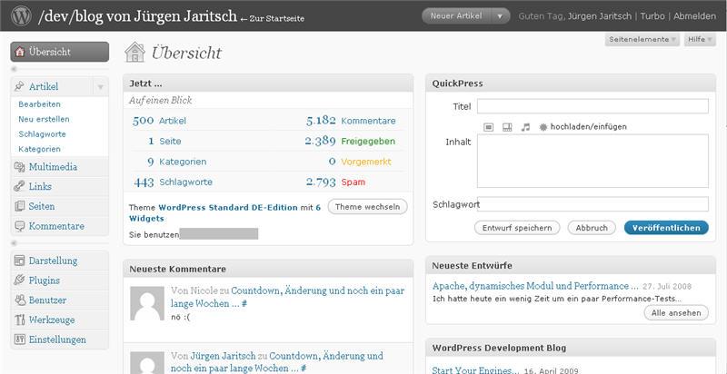 april 2009 dev blog von j rgen jaritsch